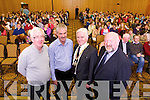 Speakers at the teachers meeting on Monday evening at the Brandon hotel, on Monday evening, were l-r: Gerard Doyle (secretary of Tralee branch of the INTO) Tim O'Sullivan (secretary District 13 of INTO Kerry and Limerick) Brendan O'Sullivan (president of INTO) and Denis O'Sullivan (vice chairperson of District 13, which represents the teachers of Kerry and Limerick).