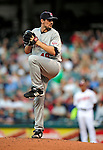 4 September 2009: Minnesota Twins' starting pitcher Carl Pavano on the mound against the Cleveland Indians at Progressive Field in Cleveland, Ohio. The Indians defeated the Twins 5-2 to take the first game of their three-game weekend series. Mandatory Credit: Ed Wolfstein Photo