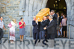 James Gleeson coffin being removed from St Mary's Cathedral last Thursday