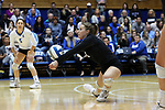 DURHAM, NC - NOVEMBER 24: Duke's Payton Schwantz. The Duke University Blue Devils hosted the University of North Carolina Tar Heels on November 24, 2017 at Cameron Indoor Stadium in Durham, NC in a Division I women's college volleyball match. Duke won 3-0 (25-21, 25-22, 25-20).