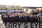Kerry Star Shane Enright  with the Sam Maguire cup arrived at St. Joseph's Secondary School Ballybunion  on Tuesday.