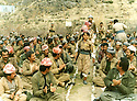 Iraq 1986.Meeting of peshmergas in Badinan, near Amadia   Irak 1986.Reunion de peshmergas pres de Amadia dans le Badinan