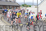 CHAIN GANG: The start of the 2012 Chain Gang cycling club sportives Conor Pass Challenge and Blasket Blast at the Kerins O'Rahillys clubhouse, Tralee on Saturday.