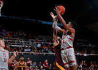 Stanford, CA -- January 12, 2019: Stanford Men's Basketball wins over Arizona State, 85-71, at Maples Pavilion.