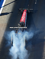 Jun 17, 2016; Bristol, TN, USA; NHRA top fuel driver Kyle Wurtzel during qualifying for the Thunder Valley Nationals at Bristol Dragway. Mandatory Credit: Mark J. Rebilas-USA TODAY Sports