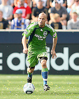 Freddie Ljungberg #10 of the Seattle Sounders FC against the Philadelphia Union during the first MLS match at PPL stadium in Chester, PA. on June 27 2010. Union won 3-1.