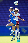 ORLANDO, FL - DECEMBER 03: Hailie Mace #16 of UCLA and Alana Cook #15 of Stanford University battle for the ball during the Division I Women's Soccer Championship held at Orlando City SC Stadium on December 3, 2017 in Orlando, Florida. Stanford defeated UCLA 3-2 for the national title. (Photo by Jamie Schwaberow/NCAA Photos via Getty Images)