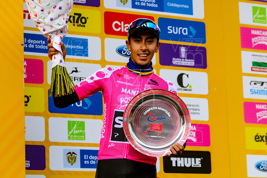 MEDELLIN - COLOMBIA, 17-02-2019:Iván Sosa del equipo Sky   quedó de subcampeón  del Tour Colombia 2.1 2019 durante la sexta etapa del Tour Colombia 2.1 2019 con un recorrido de 173.8 Km, que se corrió con salida en El Retiro  y llegada en Las Palmas, Antioquia. / Iván Sosa from the Sky team won the second place of the Tour Colombia 2.1 2019 during the sixth stage of 173.8 km of Tour Colombia 2.1 2019 that ran in El Retiro with start and arrival in Las Palmas, Antioquia.  Photo: VizzorImage / Anderson Bonilla / Cont