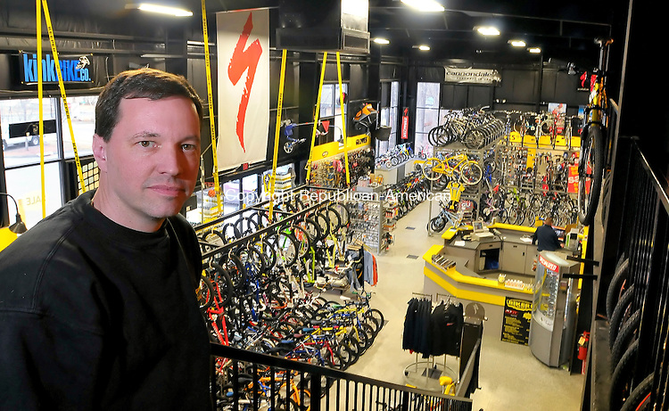 BRISTOL, CT- 28 February 2009 --022809JS14-Bob Desmarais, owner of Bikers Edge in Bristol, plans to open a second store on Winsted Road in Torrington. <br /> Jim Shannon Republican-American