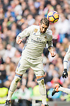 Sergio Ramos of Real Madrid in action during their La Liga 2016-17 match between Real Madrid and Malaga CF at the Estadio Santiago Bernabéu on 21 January 2017 in Madrid, Spain. Photo by Diego Gonzalez Souto / Power Sport Images
