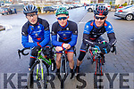 Donie Kelliher, Denis O'Connor and Denis Lynch from the Sliabh Lucahra Cycling club at the Lacey Cup cycling on Sunday
