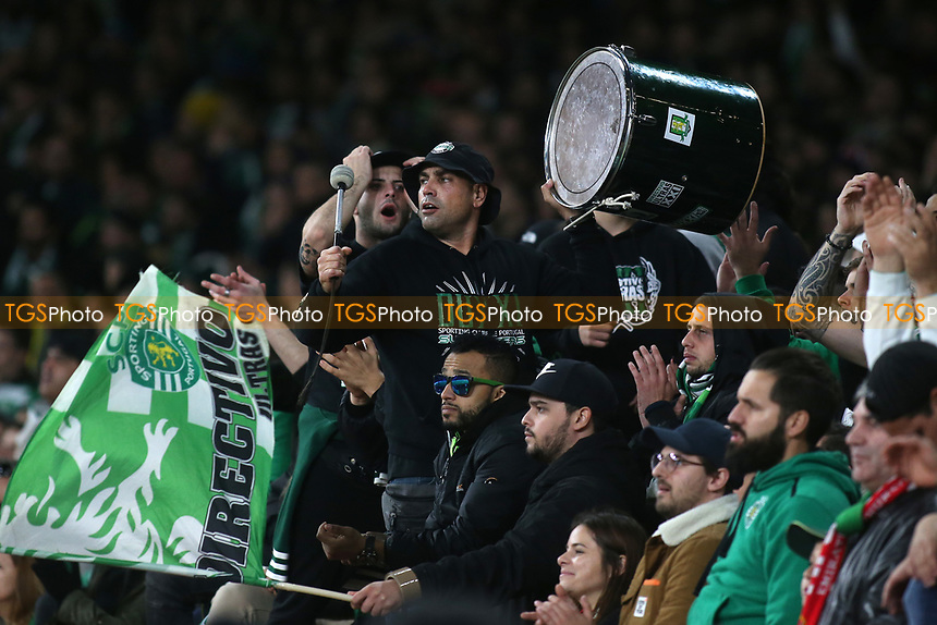 Sporting Lisbon fans during Arsenal vs Sporting Lisbon, UEFA Europa League Football at the Emirates Stadium on 8th November 2018