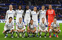 20191116 – LYON ,  FRANCE ; Lyon's players (top left to right) Amandine Henry, Kadeisha Buchanan, Griedge Mbock, Amel Majri, Dzsenifer Marozsan, Sarah Bouhaddi (bottom right to left) Lucie Bronze, Eugenie Le Sommer, Selma Bacha, Ada Hegerberg and  Saki Kumagi are posing for the team photo  a women's soccer game between Olympique Lyonnais and PARIS SG on the 9th matchday of the French Women's first league , D1 of the 2019-2020 season , Saturday 16 th November 2019 at the Groupama stadium in Lyon , France . PHOTO SPORTPIX.BE   SEVIL OKTEM