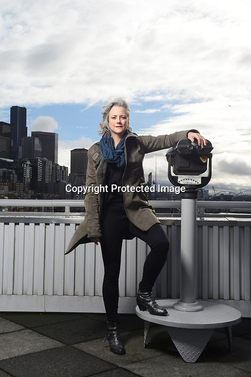 Activist and urban designer Cary Moon, photographed on the Seattle waterfront in 2015. Photo by Daniel Berman