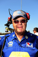 Jul. 17, 2010; Sonoma, CA, USA; NHRA funny car crew chief Ed McCulloch during qualifying for the Fram Autolite Nationals at Infineon Raceway. Mandatory Credit: Mark J. Rebilas-