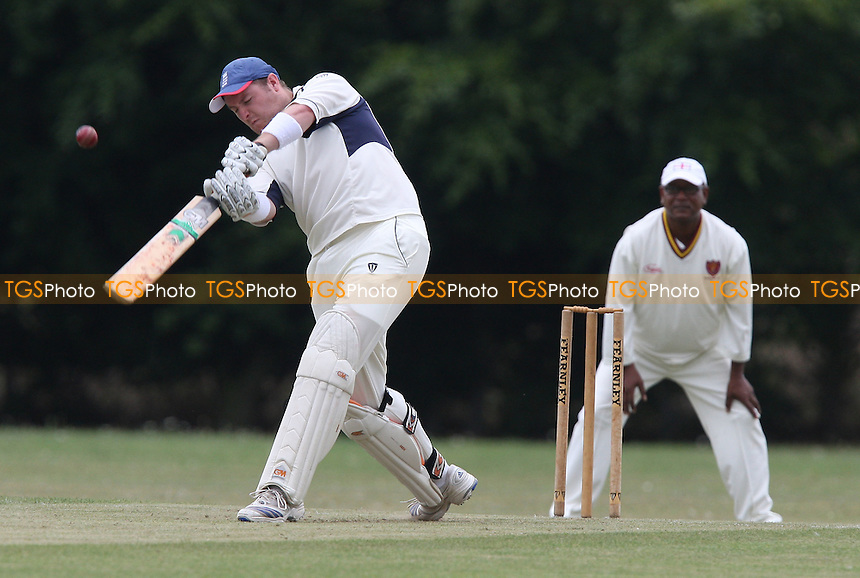 Alex Sullivan in batting action for Rainham - Rainham CC vs Barking CC 2nd XI - Lords International Essex Cricket League - 01/08/09 - MANDATORY CREDIT: Gavin Ellis/TGSPHOTO - Self billing applies where appropriate - Tel: 0845 094 6026