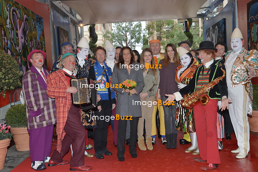PRINCE ALBERT & PRINCESS STEPHANIE OF MONACO /January 20, 2013-Monaco (MCO)-Prince Albert, Princess Stephanie Of Monaco and her daughters Pauline Ducruet and Camille Gottlieb attend the 4th day of the 37th Monte-Carlo Circus with tv personality Stéphane Bern.........