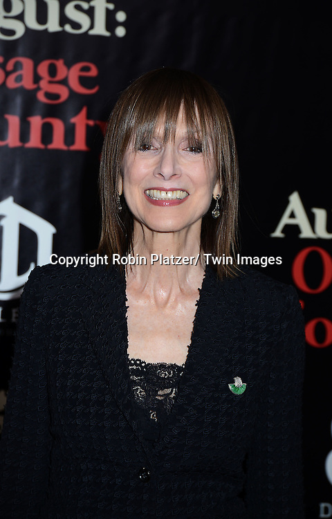 "Jean Doumanian attends the New York Premiere of ""August: Osage County"" on December 12, 2013 at the Ziegfeld Theatre in New York City."