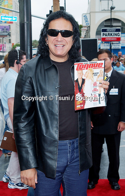 "Gene Simmons arriving at the premiere of "" Scooby Doo "" at the Chinese Theatre in Los Angeles. June 8, 2002.           -            SimmonsGene05.jpg"