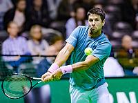 Rotterdam, The Netherlands, 12 Februari 2019, ABNAMRO World Tennis Tournament, Ahoy, first round singles: Fernando Verdasco (ESP)<br /> Photo: www.tennisimages.com/Henk Koster