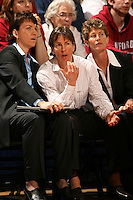 19 March 2007: Karen Middleton, Tara Vanderveer, and Amy Tucker during Stanford's 68-61 second round loss to Florida State in the NCAA women's basketball tournament at Maples Pavilion in Stanford, CA.