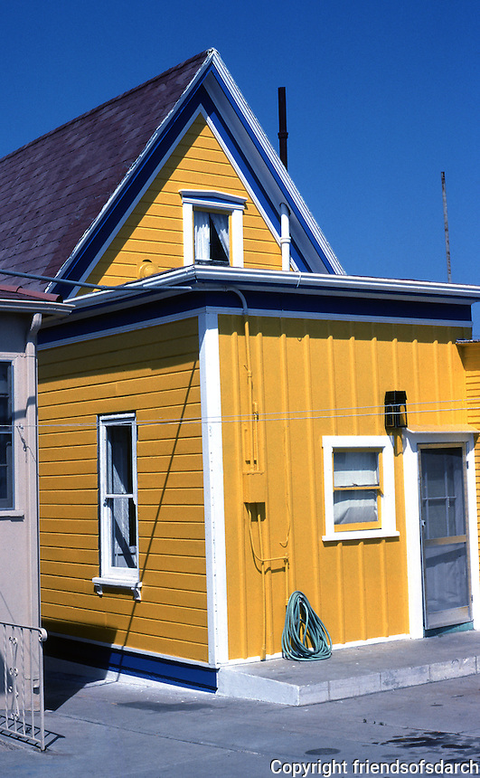 San Diego: Yellow House on Kettner, 1980's.