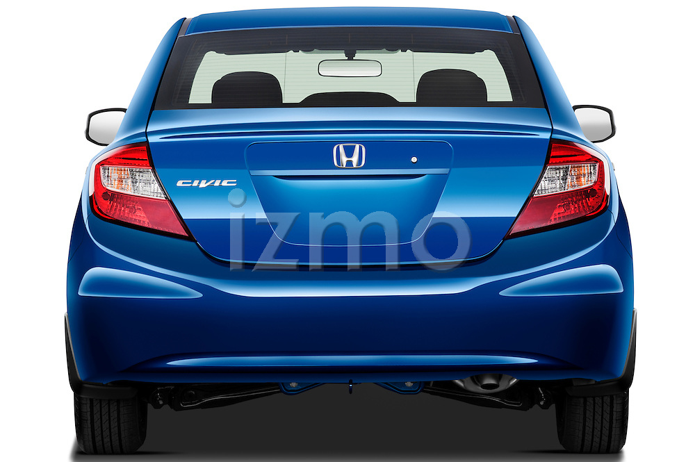 Straight rear view of a 2012 Honda Civic Sedan DX