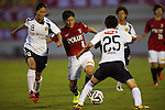 (L to R) Homare Sawa (INAC), Hikaru Naomoto (Reds Ladies),<br /> AUGUST 17,2014 - Football / Soccer : 2014 Nadeshiko League, between Urawa Reds Ladies 0-1 INAC KOBE LEONESSA at Urawakomaba Stadium, Saitama, Japan. (Photo by Jun Tsukida/AFLO SPORT)