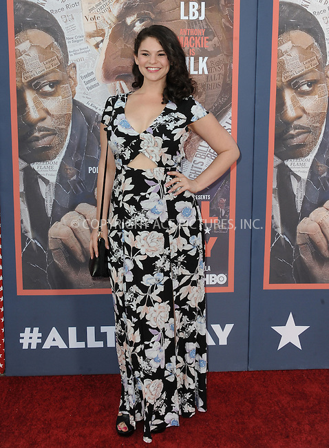 WWW.ACEPIXS.COM<br /> <br /> May 10 2016, LA<br /> <br /> Samantha Bogach arriving at the premiere of HBO's 'All The Way' at Paramount Studios on May 10, 2016 in Hollywood, California.<br /> <br /> By Line: Peter West/ACE Pictures<br /> <br /> <br /> ACE Pictures, Inc.<br /> tel: 646 769 0430<br /> Email: info@acepixs.com<br /> www.acepixs.com