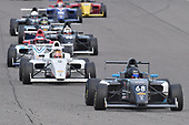 2017 F4 US Championship<br /> Rounds 1-2-3<br /> Homestead-Miami Speedway, Homestead, FL USA<br /> Saturday 8 April 2017<br /> #68 Jacob Loomis followed by #8 Kyle Kirkwood and group of cars on the front straight<br /> World Copyright: Dan R. Boyd/LAT Images