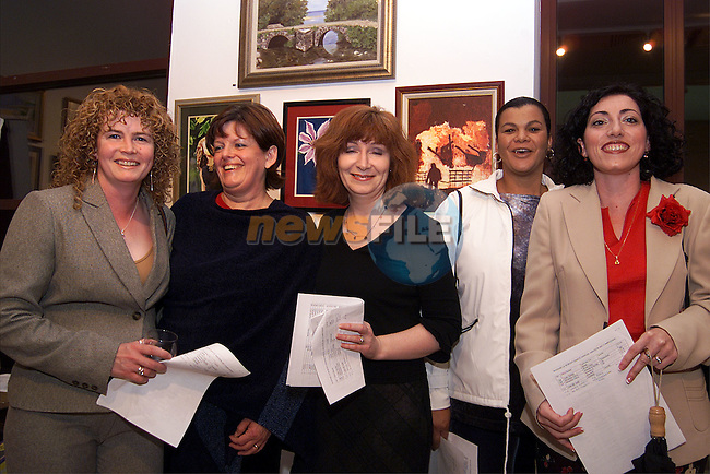 Barbara Pepper, Patti Tivnan, Jackie Lawlor, Mercia Hayes and Conchita McDonald at the Madame Le Worthy Amateur Art Competition in the Droichead Arts Centre..Picture: Paul Mohan/Newsfile