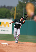 Alfredo Amezaga of the Florida Marlins vs. the Houston Astros March 15th, 2007 at Osceola County Stadium in Kissimmee, FL during Spring Training action.  Photo copyright Mike Janes Photography 2007.