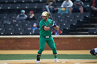 Niko Kavadas (12) of the Notre Dame Fighting Irish at bat against the Wake Forest Demon Deacons at David F. Couch Ballpark on March 10, 2019 in  Winston-Salem, North Carolina. The Demon Deacons defeated the Fighting Irish 7-4 in game one of a double-header.  (Brian Westerholt/Four Seam Images)