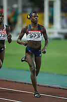 Alysia Johnson ran 2:02.11sec. in the 1st. round of the 800m on Saturday, August 25, 2007. Photo by Errol Anderson,The Sporting Image.