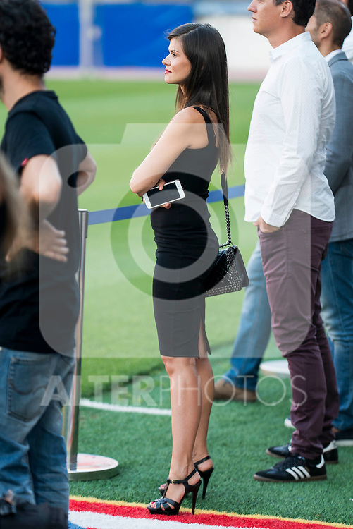 Kevin Gameiro's girlfriend Lina Gameiro during the presentation of new Atletico de Madrid's football player for the next season 2016-2017 at Vicente Calderon Stadium in Madrid. July 31, Spain. 2016. (ALTERPHOTOS/BorjaB.Hojas)