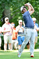 Bethesda, MD - July 1, 2018: Francesco Molinari tee's off on the 8th hole during final round of professional play at the Quicken Loans National Tournament at TPC Potomac at Avenel Farm in Bethesda, MD.  (Photo by Phillip Peters/Media Images International)