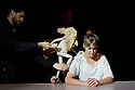"Edinburgh, UK. 17/08/2011. Fringe First winners, Blind Summit, present ""The Table"", starring Moses, the Bunraku table puppet, who is ably assisted into being by Mark Down, Nick Barnes and Sean Garratt. Photo credit: Jane Hobson"
