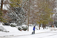 The pace of life in slows dramatically after a January snowstorm in Charlotte, North Carolina.