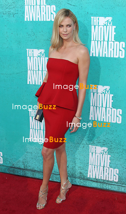 Charlize Theron, The 2012 MTV Movie Awards held at the Gibson Amphitheatre (Universal City, CA)..Los Angeles, June 3, 2012.
