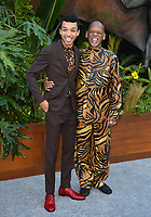 Justice Smith &amp; Father at the premiere for &quot;Jurassic World: Fallen Kingdom&quot; at the Walt Disney Concert Hall, Los Angeles, USA 12 June 2018<br /> Picture: Paul Smith/Featureflash/SilverHub 0208 004 5359 sales@silverhubmedia.com