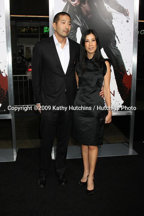 "Lisa Ling & Her husband.arriving at the Premiere Of Warner Bros. ""Ninja Assassin"" .Grauman's Chinese Theater.Los Angeles,  CA.November 19, 2009.©2009 Kathy Hutchins / Hutchins Photo."