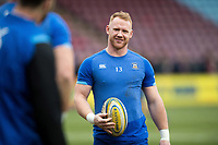 Will Hurrell of Bath Rugby looks on during the pre-match warm-up. Aviva Premiership match, between Harlequins and Bath Rugby on March 2, 2018 at the Twickenham Stoop in London, England. Photo by: Patrick Khachfe / Onside Images
