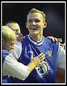 18/01/2003                   Copyright Pic : James Stewart.File Name : stewart-alloa v qots18.PETER WEATHERSON CELEBRATES AFTER SCORING QUEEN OF THE SOUTH'S THIRD GOAL......James Stewart Photo Agency, 19 Carronlea Drive, Falkirk. FK2 8DN      Vat Reg No. 607 6932 25.Office     : +44 (0)1324 570906     .Mobile  : +44 (0)7721 416997.Fax         :  +44 (0)1324 570906.E-mail  :  jim@jspa.co.uk.If you require further information then contact Jim Stewart on any of the numbers above.........