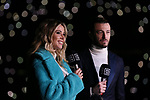 DAZN TV Presenters Diletta Leotta and Federico Balzaretti pictured pitch side before the Serie A match at Giuseppe Meazza, Milan. Picture date: 11th January 2020. Picture credit should read: Jonathan Moscrop/Sportimage