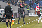 10.02.2018, HDI Arena, Hannover, GER, 1.FBL, Hannover 96 vs SC Freiburg<br /> <br /> im Bild<br /> Andre / Andr&eacute; Breitenreiter (Trainer Hannover 96) in Coachingzone / an Seitenlinie, <br /> <br /> Foto &copy; nordphoto / Ewert