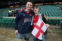 England Fans at the start of todays match<br /> <br /> Photographer Rachel Holborn/CameraSport<br /> <br /> International Rugby Union Friendly - Old Mutual Wealth Series Autumn Internationals 2017 - England v Argentina - Saturday 11th November 2017 - Twickenham Stadium - London<br /> <br /> World Copyright &copy; 2017 CameraSport. All rights reserved. 43 Linden Ave. Countesthorpe. Leicester. England. LE8 5PG - Tel: +44 (0) 116 277 4147 - admin@camerasport.com - www.camerasport.com