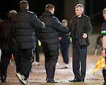 St Johnstone v Brechin...07.01.12  Scottish Cup Round 4.Jim Weir shakes hands with Steve Lomas at full time.Picture by Graeme Hart..Copyright Perthshire Picture Agency.Tel: 01738 623350  Mobile: 07990 594431