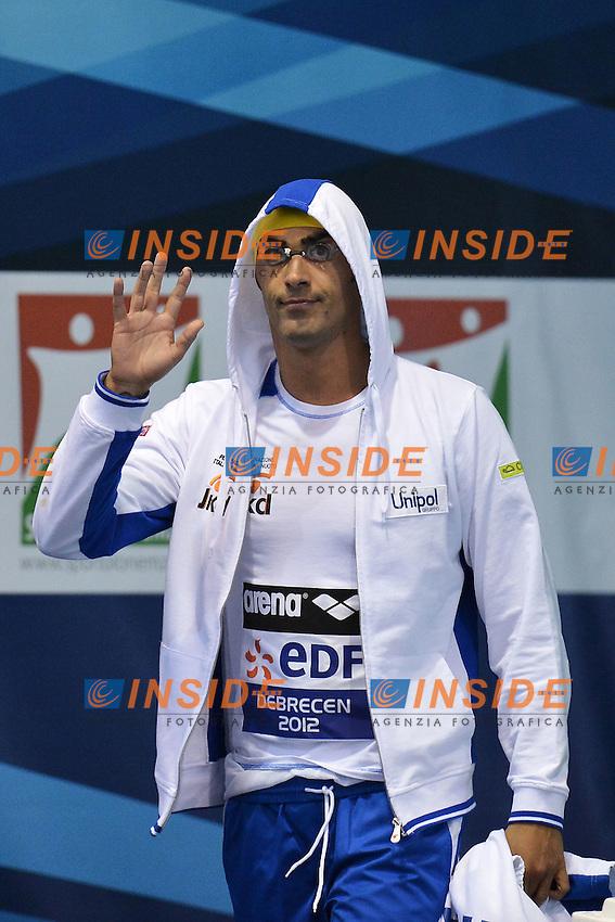 Filippo Magnini Italy Men's 100m freestyle Gold Medal.Debrecen 25/5/2012 .31st European Swimming Championships - Nuoto.Foto Insidefoto / Andrea Staccioli