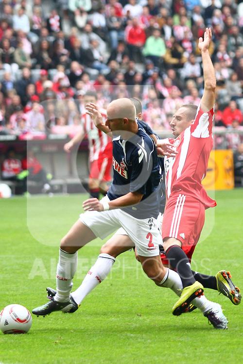 18.09.2010, Allianz Arena, Muenchen, GER, 1.FBL, FC Bayern Muenchen vs 1.FC Koeln, im Bild Miso Brecko (Koeln #2) foult Franck Ribery (Bayern #7)  , Foto © nph / Straubmeier