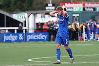 Laurence Maguire of Chesterfield, brother of England and Manchester United's Harry Maguire, shows his frustration at the end of the match as he walks towards the dressing room after losing 2-1 at Bromley during Bromley vs Chesterfield, Vanarama National League Football at the H2T Group Stadium on 7th September 2019
